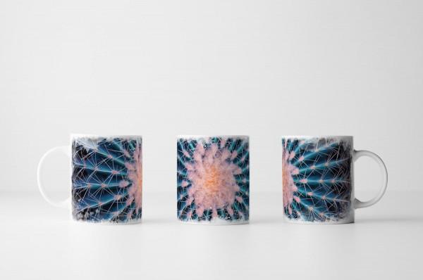 Tasse Runder Kaktus mit Stacheln