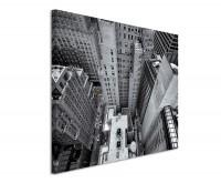 Leinwandbild Luftaufnahme New York schwarz weiß