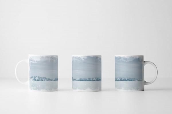 Tasse Eiswüste und Berge