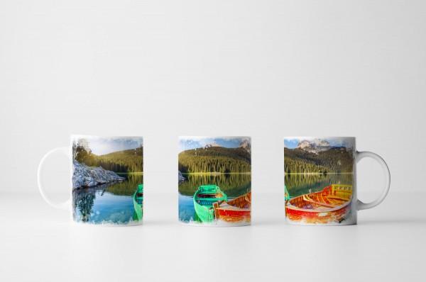 Tasse Boote im Durmitor Nationalpark