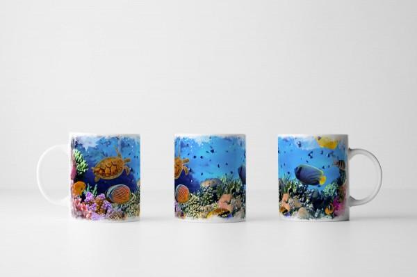 Tasse Bunte Unterwasserwelt