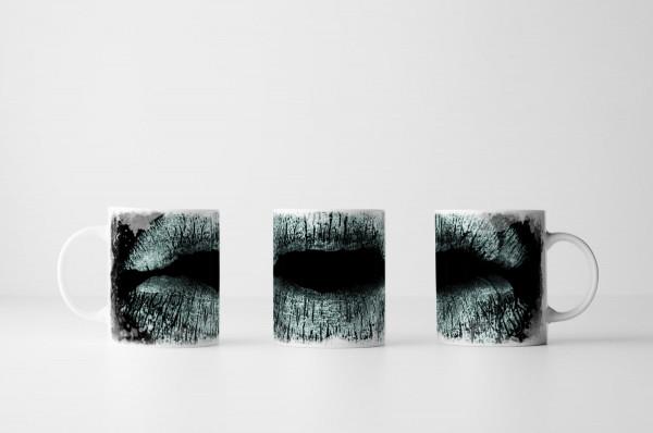 Tasse Weiße Lippen
