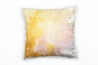 Zierkissen Pastellgelb Gold Pastellrosa