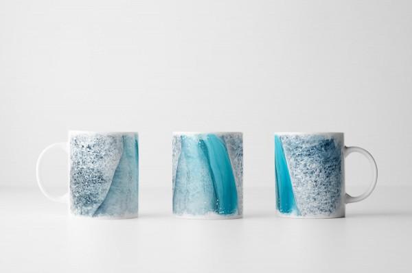 Tasse Isländischer Gletscher