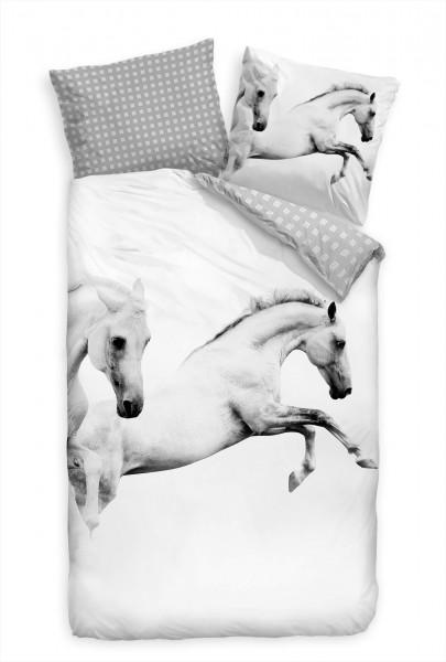 Bettwäsche - springende Pferde