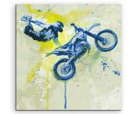 Leinwandbild Sportbild Motorrad  Xgames Splash Art