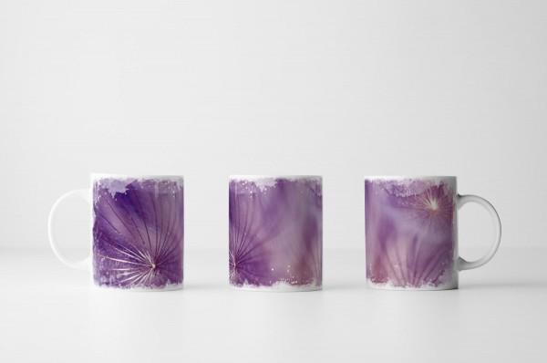 Tasse Lila Blütenkelche