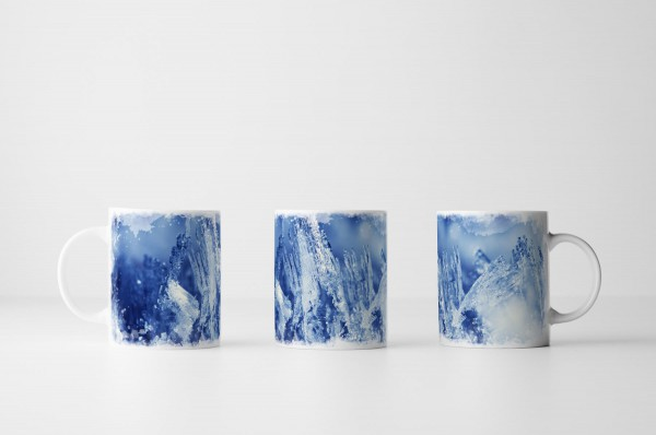 Tasse Blaue Eiszapfen