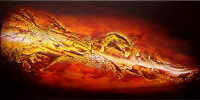 Gemälde abstrakt - River of Fire