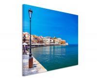 Premium Leinwandbild Kreta Hafen