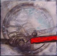 Gemälde abstrakt - Zeit zurück