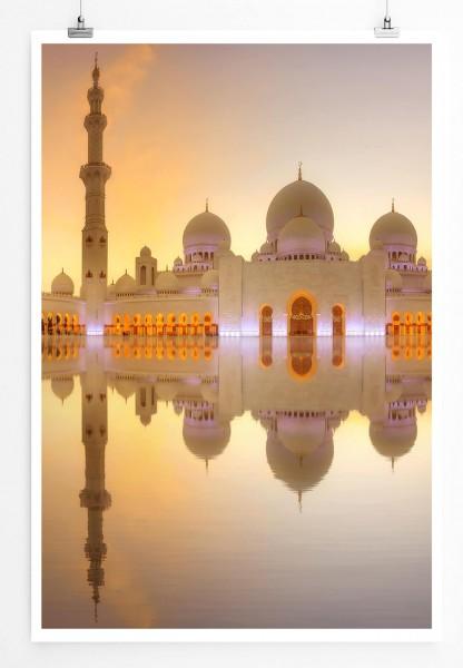 Poster Sheikh Zayed Moschee in Abu Dhabi