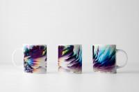 Tasse Abstrakte Collage mit Polarlichtern