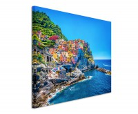 Leinwandbild Der Hafen von Cinque Terre Italien