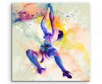 Leinwandbild Sportbild Klettern I Splash Art