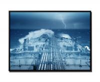 Öltanker auf stürmischer See