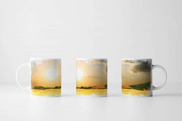 Tasse Goldenes Weizenfeld