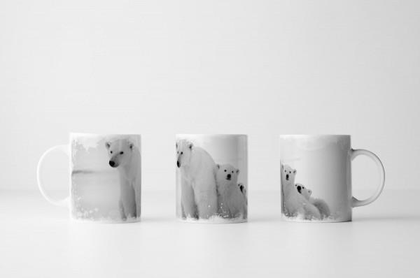 Tasse Eisbär mit Jungen
