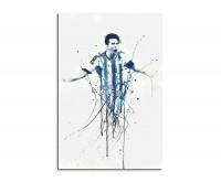 Leinwandbild Lionel Messi Fußball Splash Art