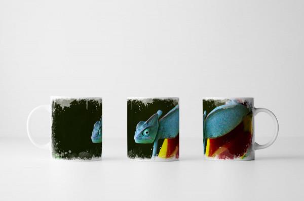 Tasse Blaue Echse