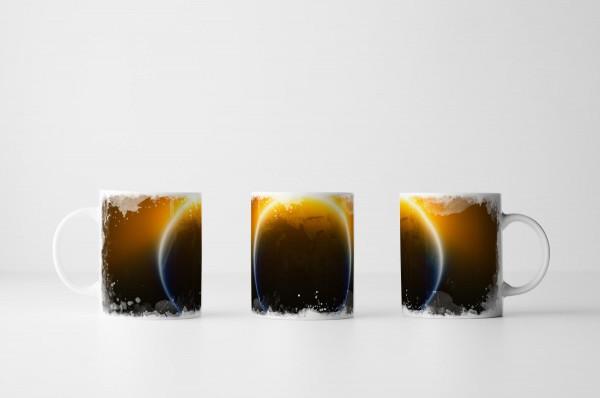 Tasse der glühenden Erde